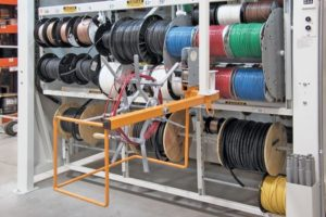 wire spool storage